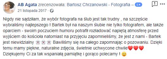 Fotograf ślubny białogard